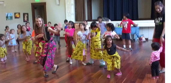 Dance Around the World with Nikola Clay at the Milpitas Library, Milpitas, California